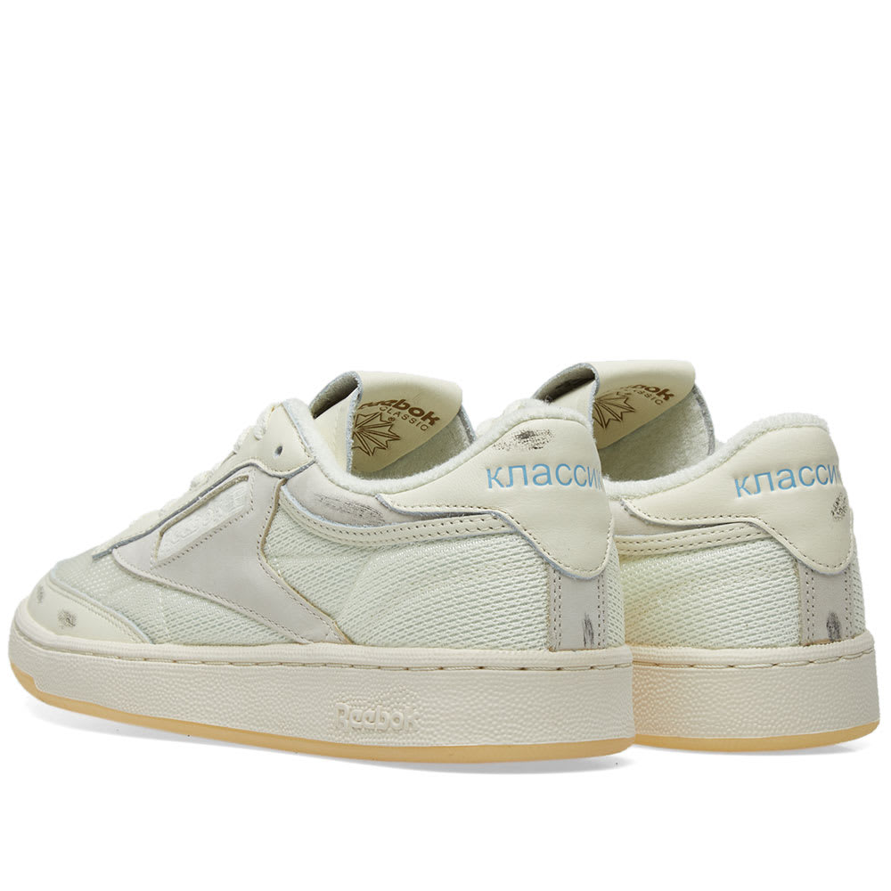 42f1dd89e92 Reebok x Walk of Shame Club C 85 Olympic Cream   Yellow   Blue