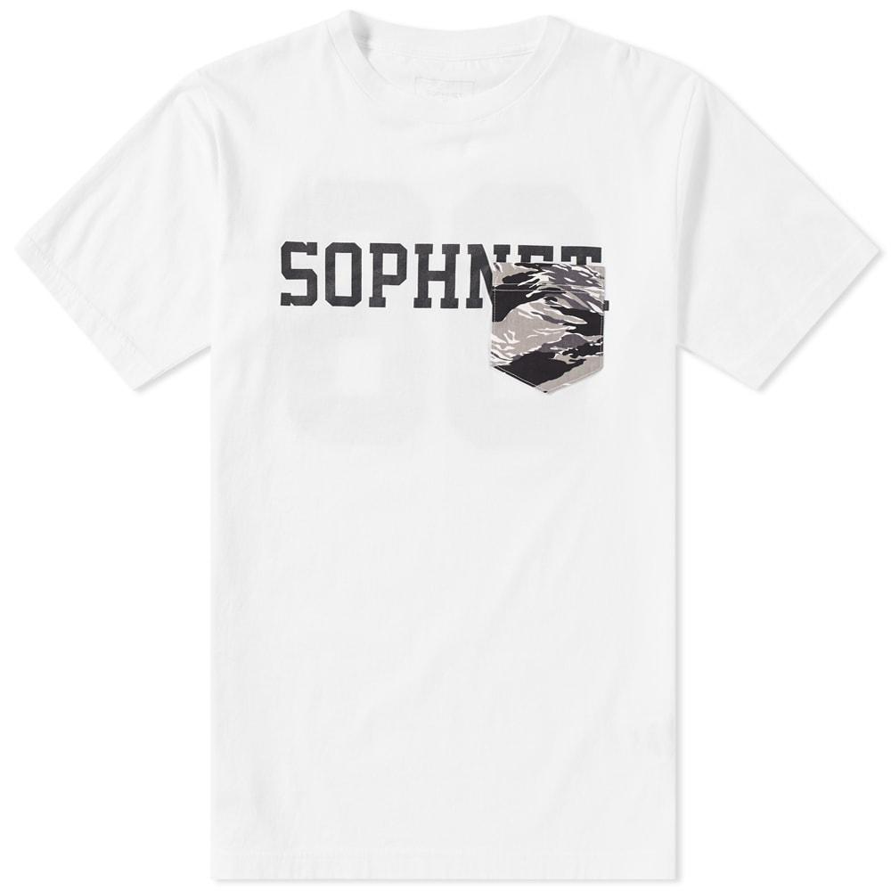 SOPHNET. CAMOUFLAGE POCKET TEE