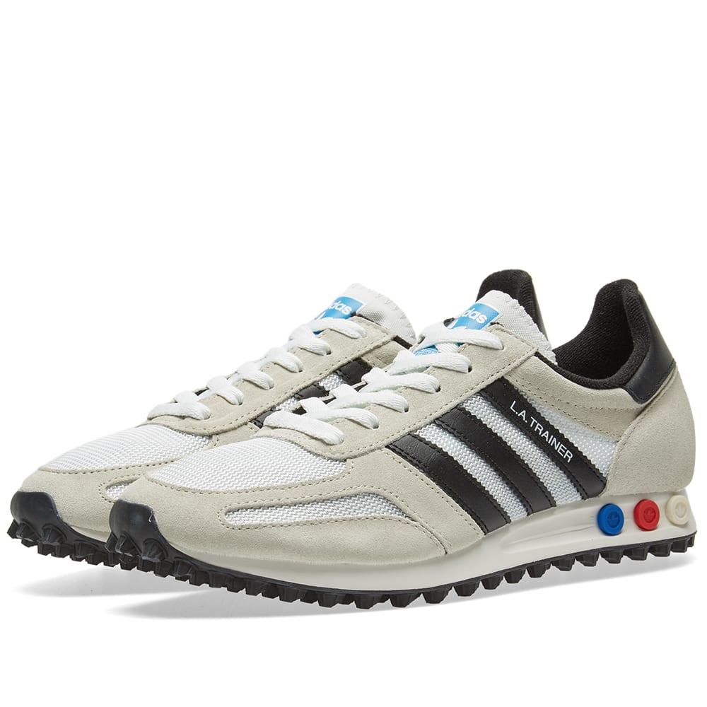 check out 2d607 890a0 Adidas LA Trainer OG Vintage White   Black   END.