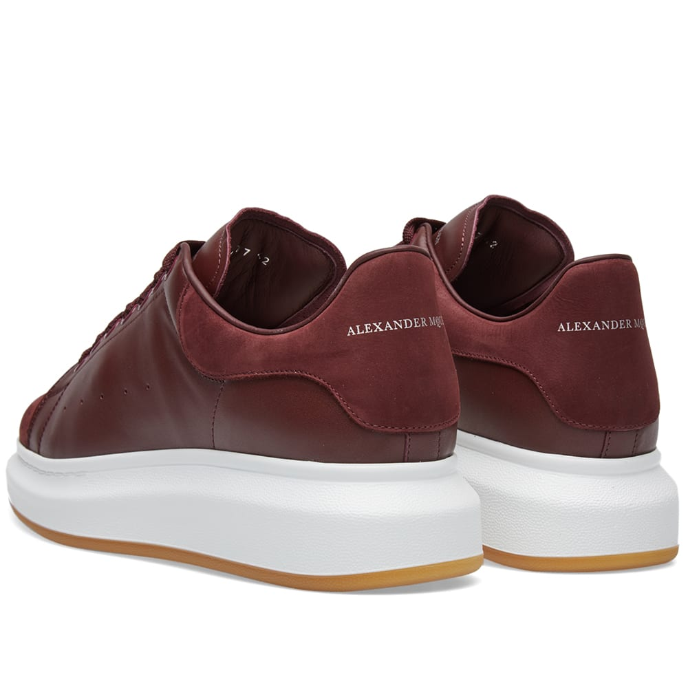 alexander mcqueen perforated wedged sole sneaker bordeaux. Black Bedroom Furniture Sets. Home Design Ideas
