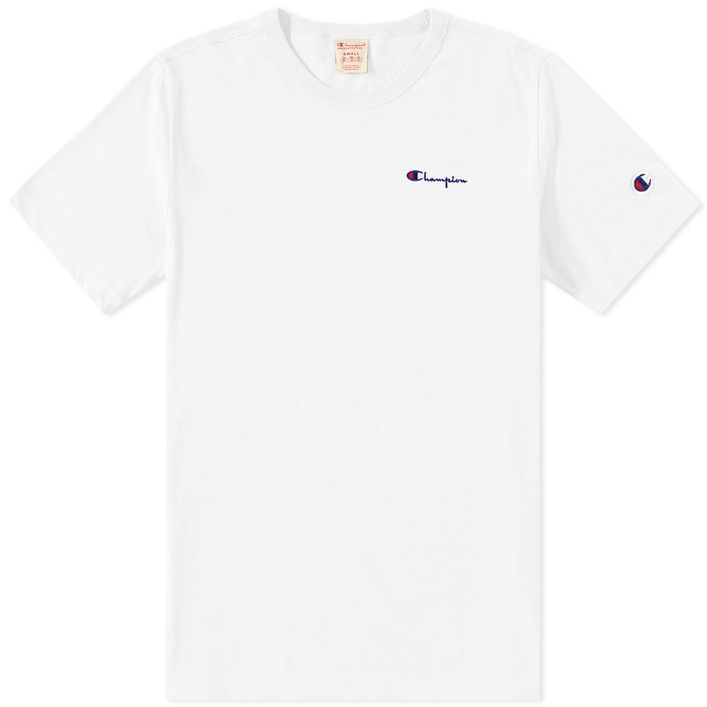 32f8453a5e42 Champion Reverse Weave Small Script Logo Tee White