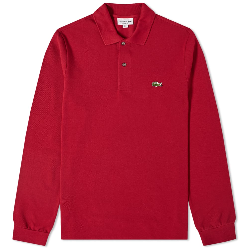 9529b242 Lacoste Long Sleeve Classic Pique Polo