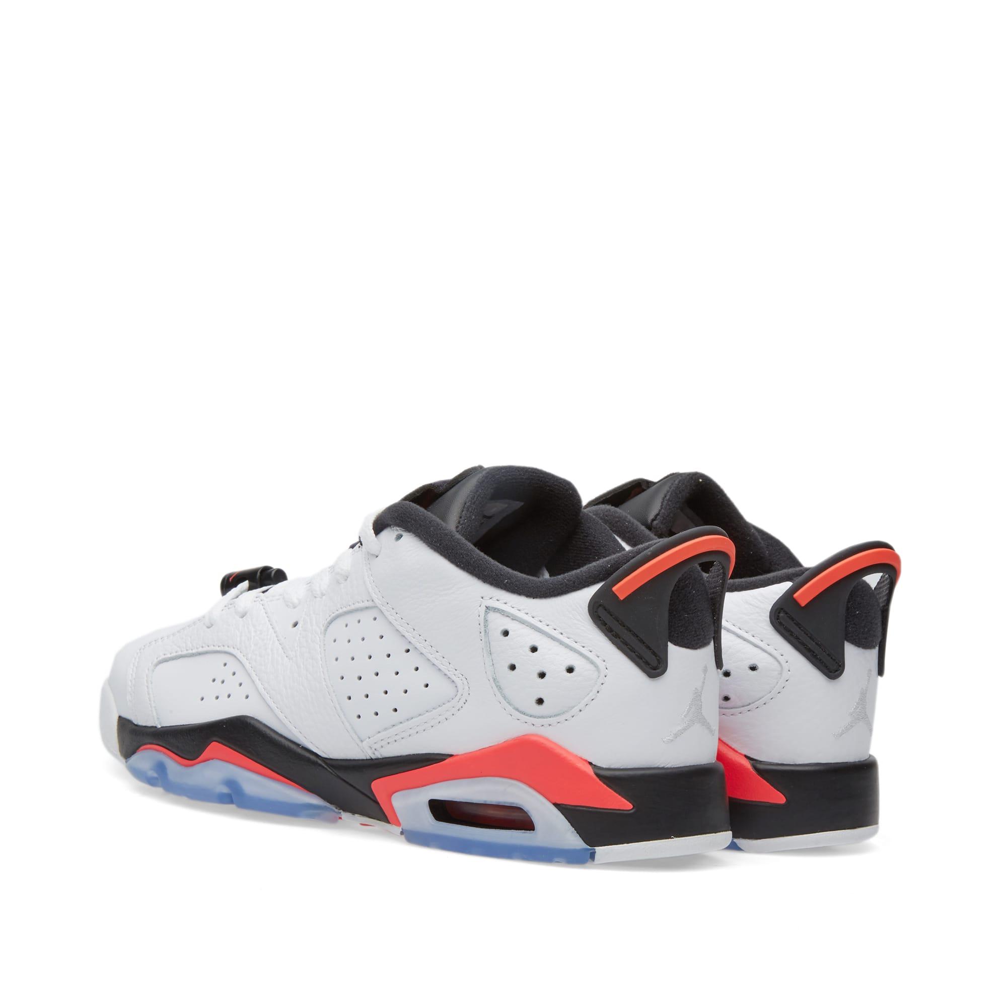 finest selection e364e e9bea Nike Air Jordan 6 Retro Low BG White, Infrared 23   Black   END.