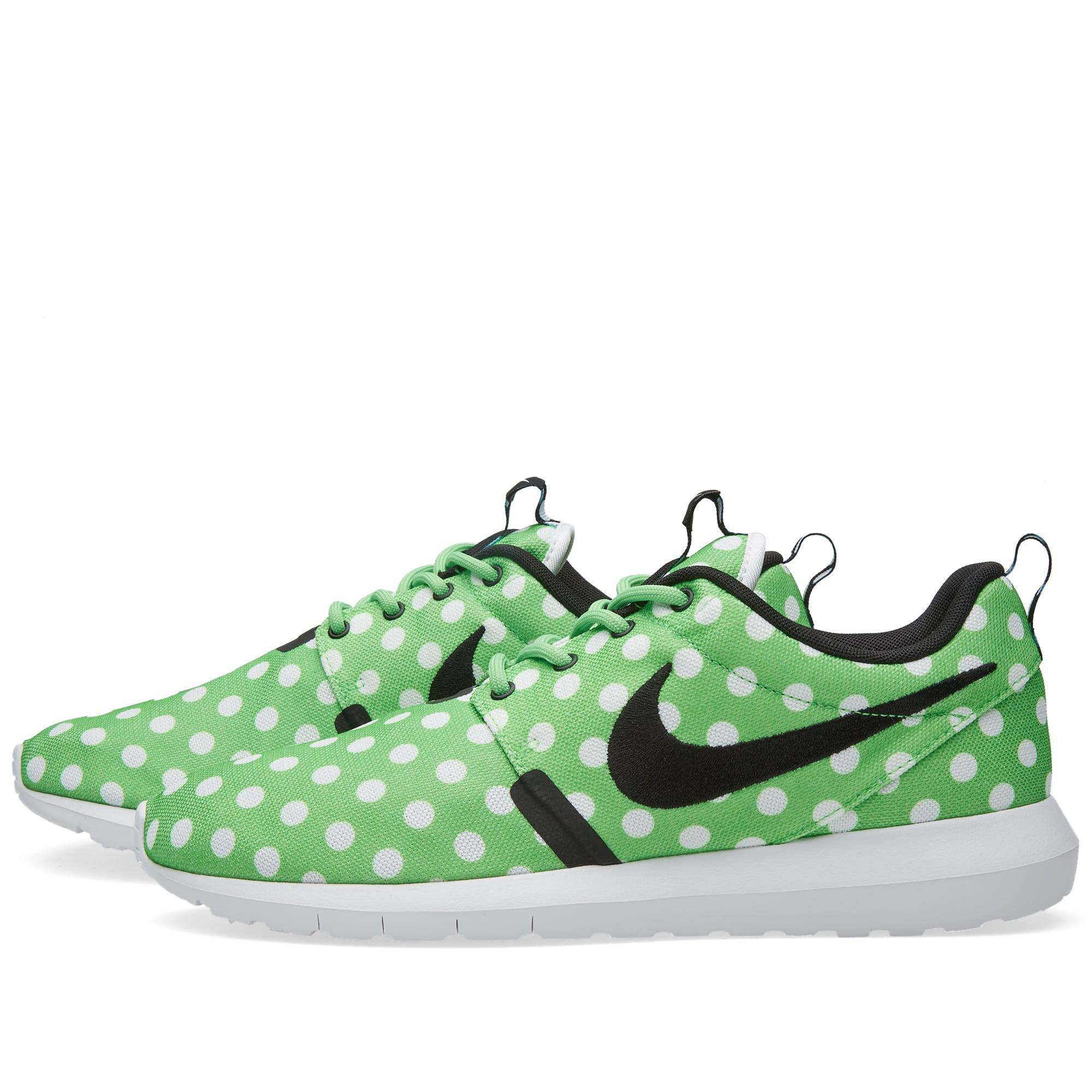 brand new 8cf30 c2155 Nike Roshe NM QS  Polka Dot  Green Strike, Black   White   END.