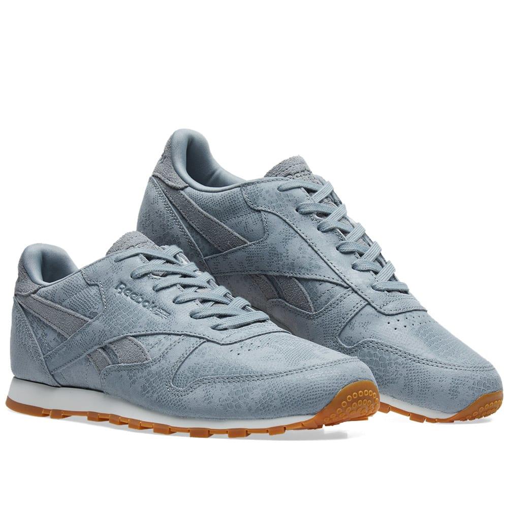 cc13558265da3 Reebok Classic Leather  Clean Exotics  W Flint Grey