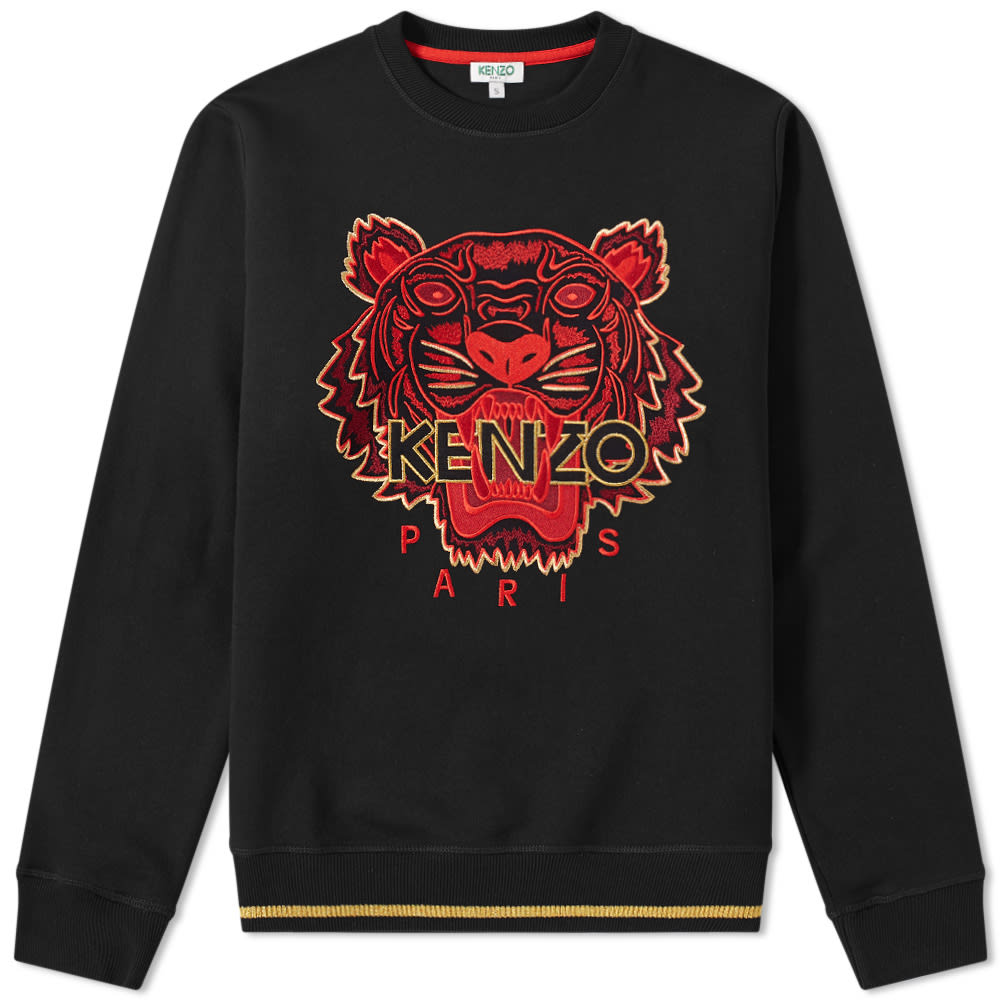 9d444315 Kenzo Embroidered Tiger Crew Sweat Black & Red | END.
