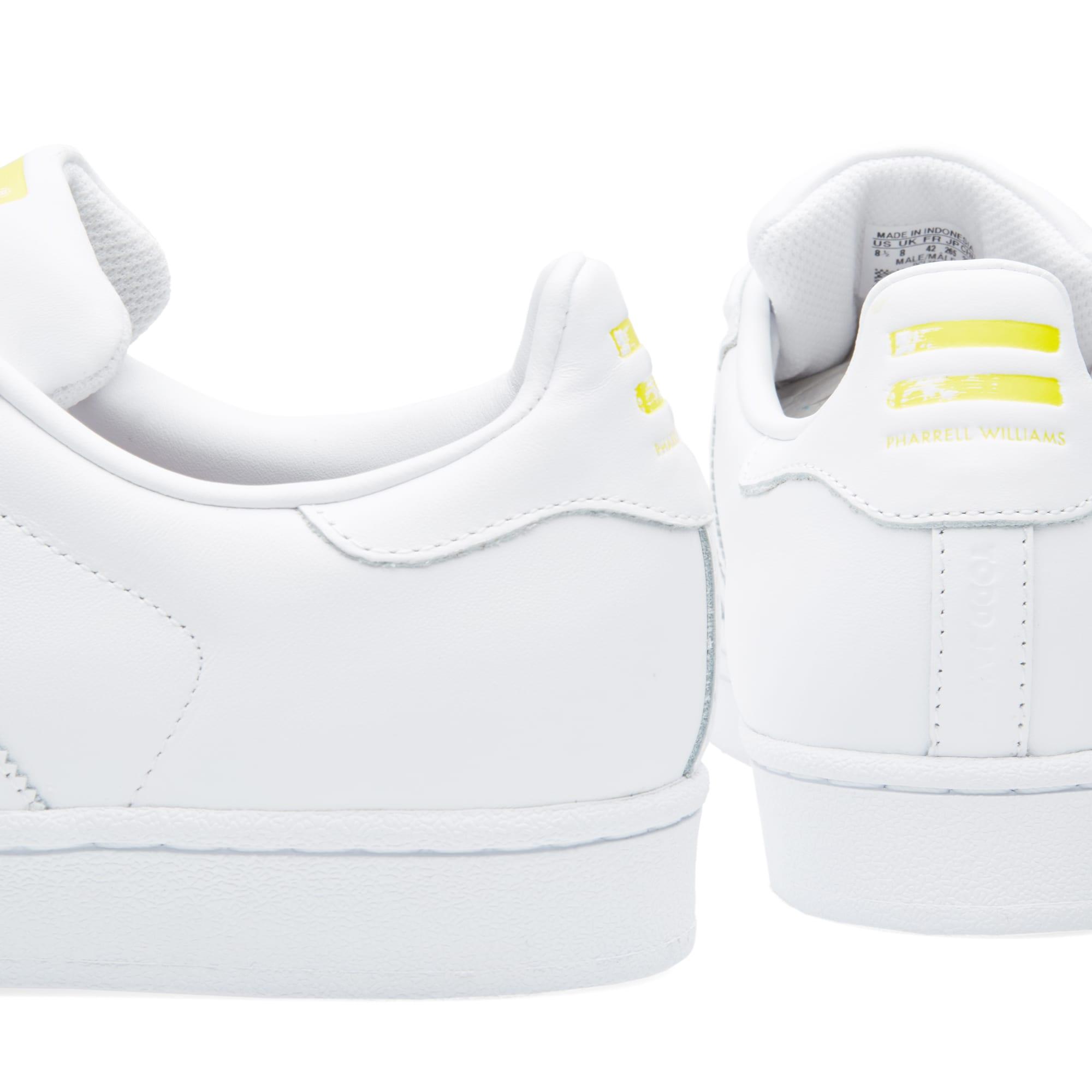 470ede51548402 Adidas x Pharrell Superstar Supershell White   Yellow