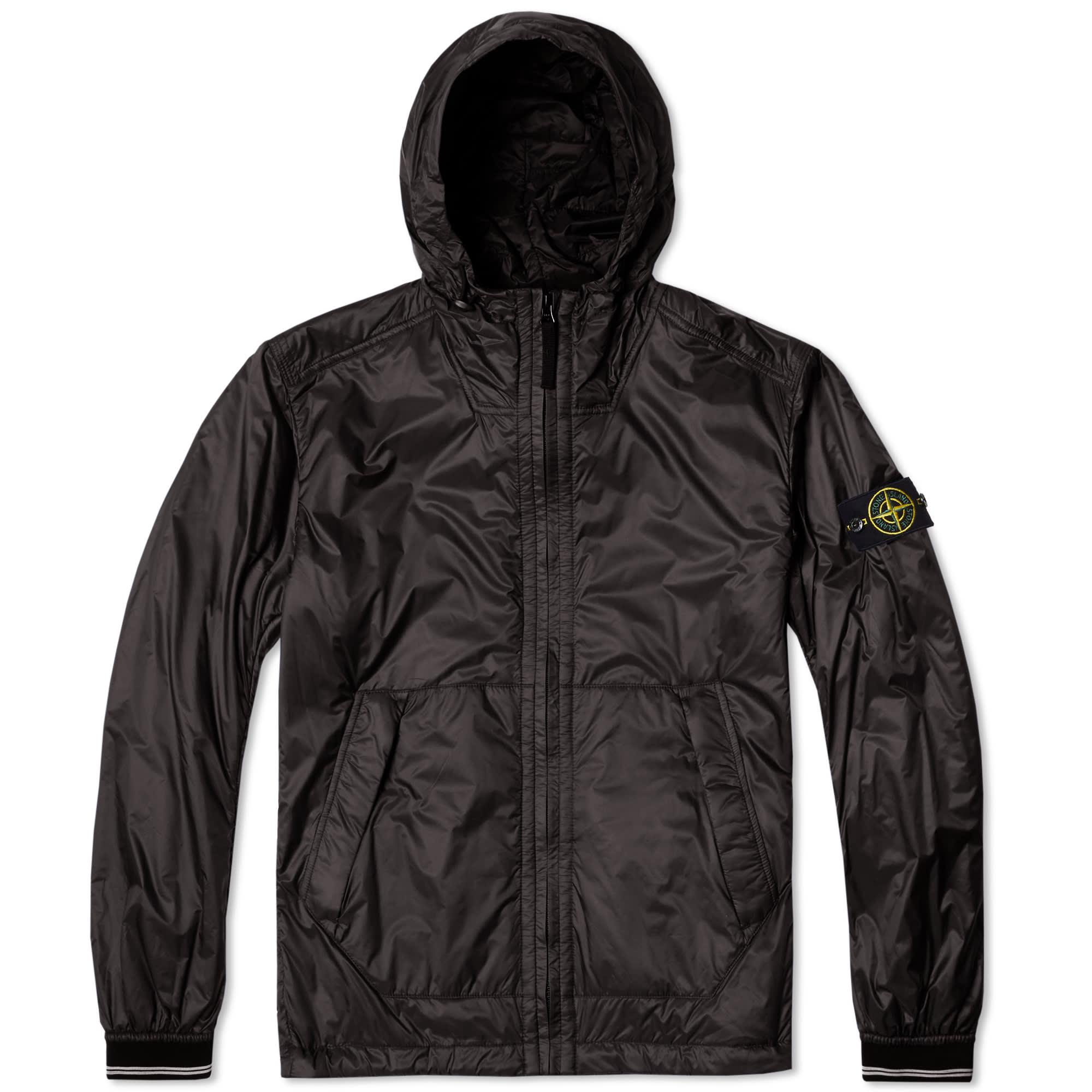 stone island ripstop primaloft hooded jacket black. Black Bedroom Furniture Sets. Home Design Ideas