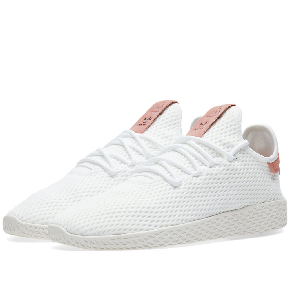 9ebe1e6008dd6 Adidas x Pharrell Williams Tennis HU White   Raw Pink
