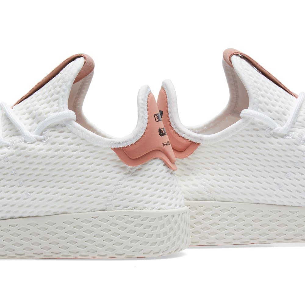 d4d69cd40 Adidas x Pharrell Williams Tennis HU White   Raw Pink