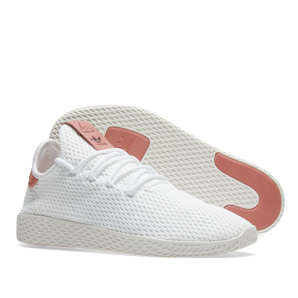 official photos 7c377 3794c Adidas x Pharrell Williams Tennis HU. White & Raw Pink