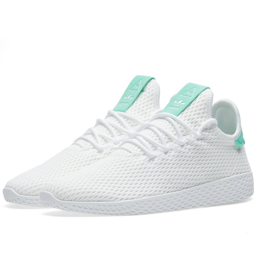 0317fcc103f8f Adidas x Pharrell Williams Tennis HU White   Green Glow