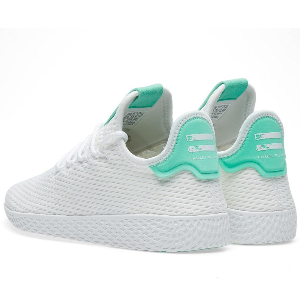 04e4957cd Adidas x Pharrell Williams Tennis HU White   Green Glow