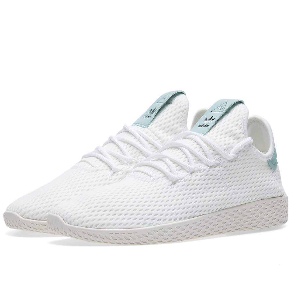 d6470d231 Adidas x Pharrell Williams Tennis HU White   Tactile Green