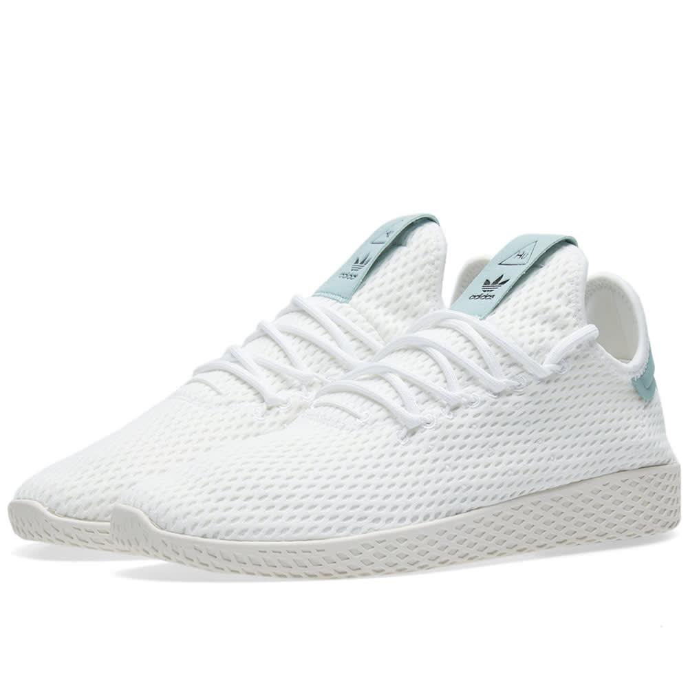 862df6e530261 Adidas x Pharrell Williams Tennis HU White   Tactile Green