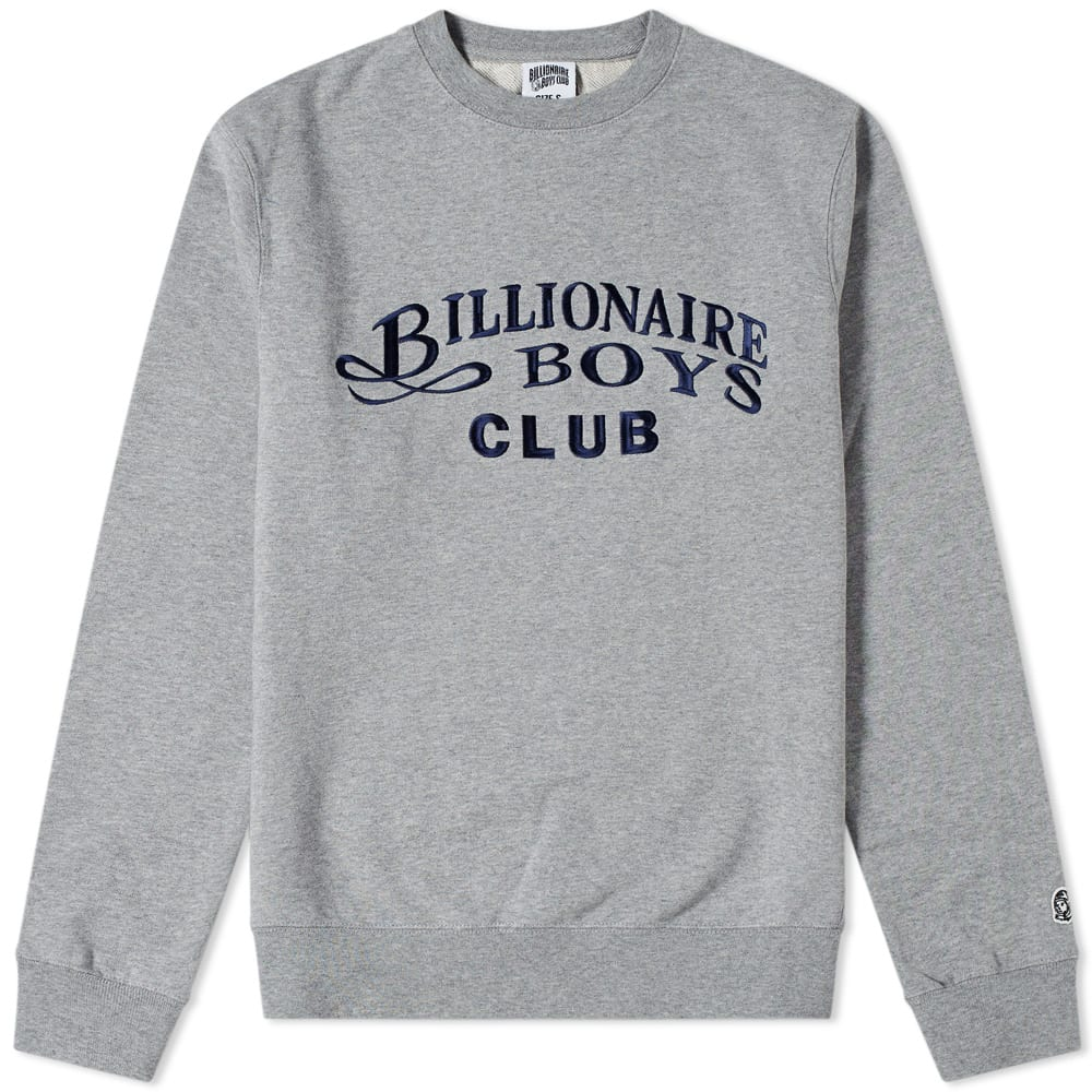 BILLIONAIRE BOYS CLUB EMBROIDERED CREW SWEAT