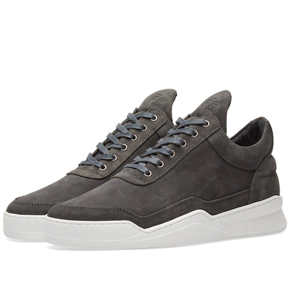 FILLING PIECES LOW TOP GHOST WAXED SUEDE SNEAKER