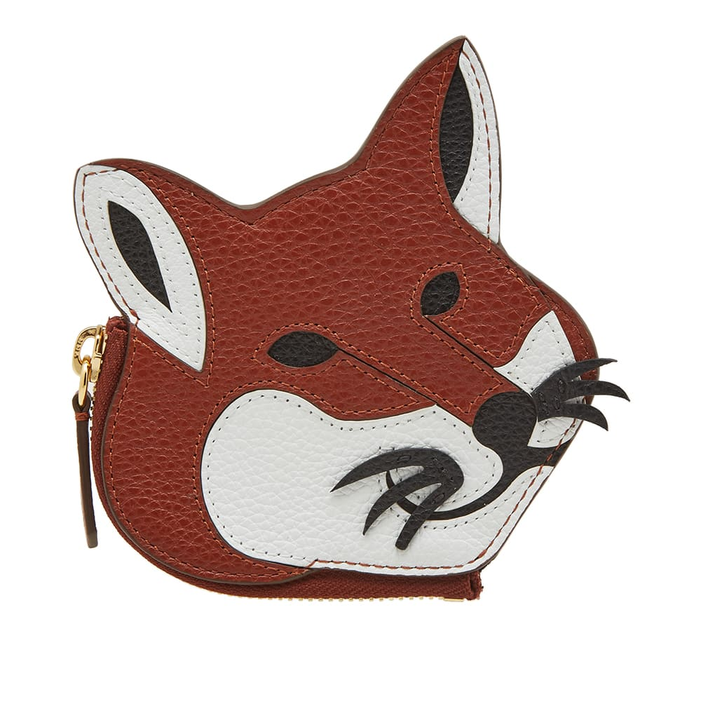 Maison Kitsuné Wallets MAISON KITSUNÉ LEATHER FOX HEAD COIN PURSE