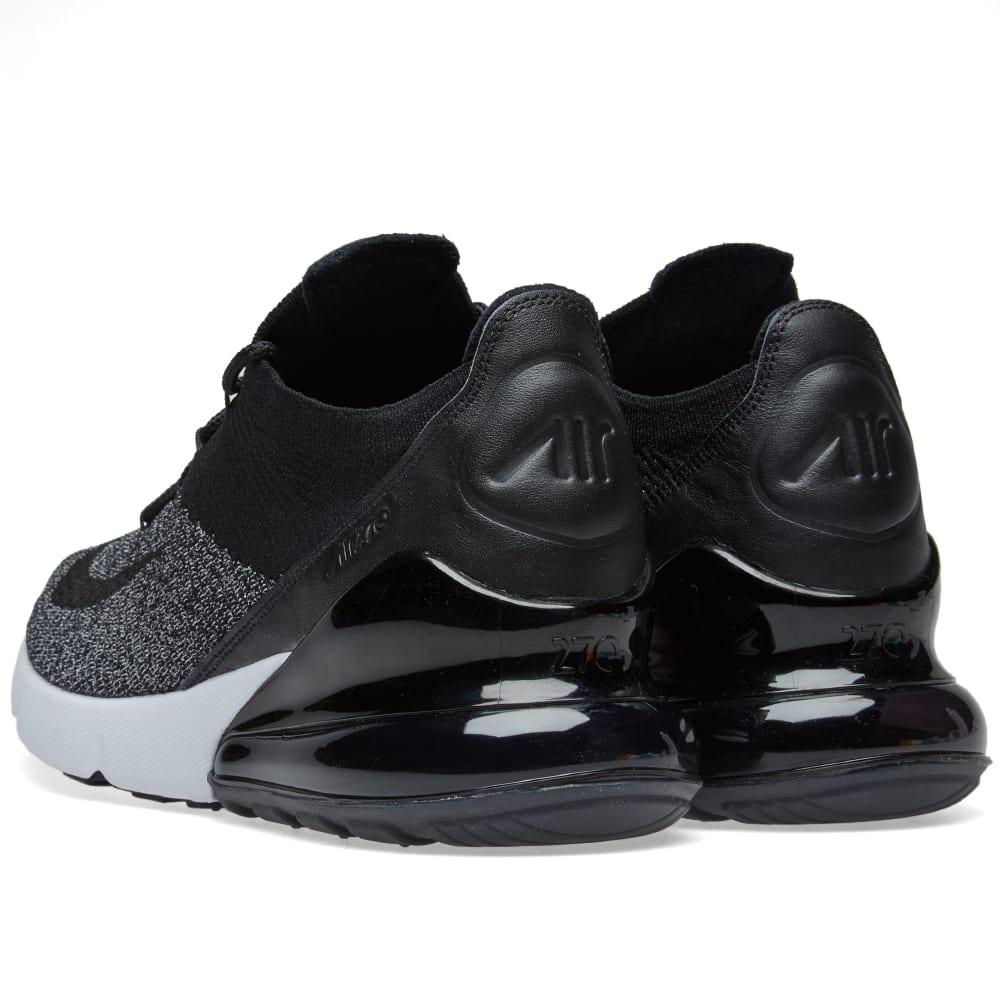 6a4da6e51eb Nike Air Max 270 Flyknit Black   White