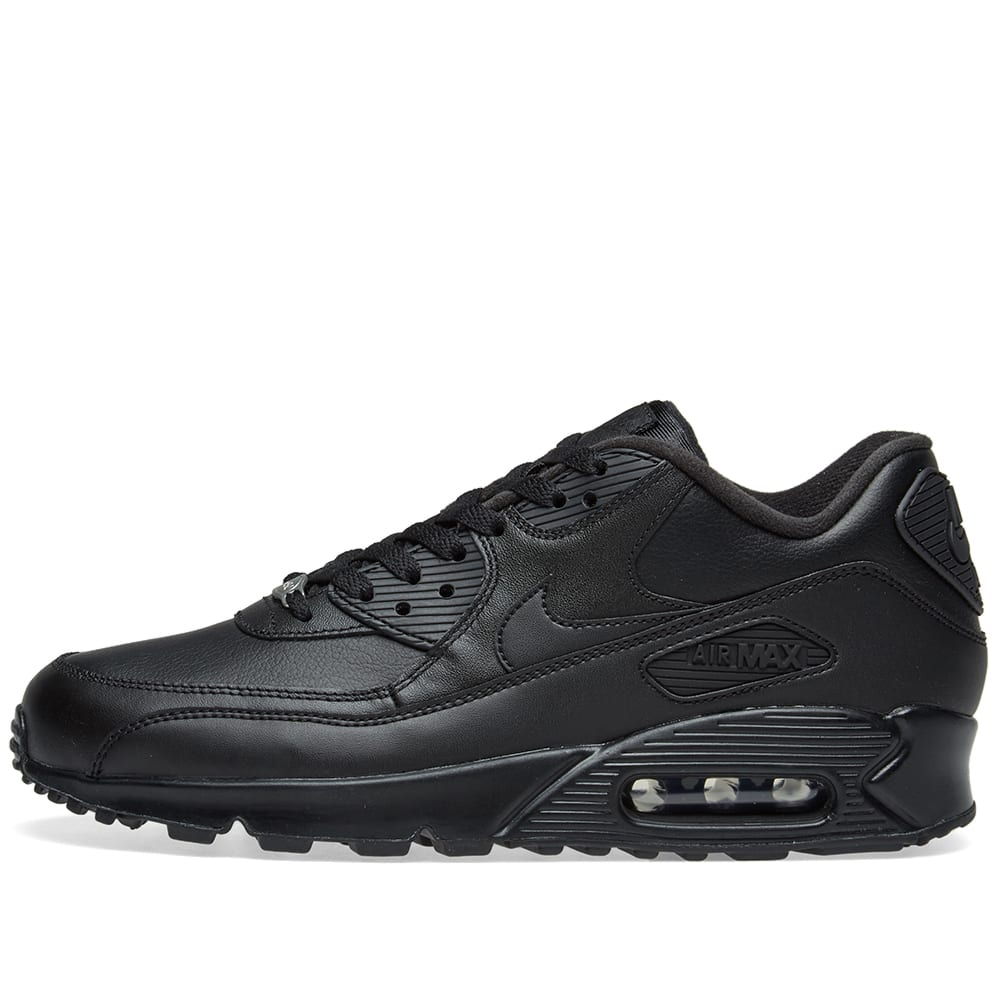 huge selection of a0a79 3fab7 Nike Air Max 90 Leather Black   END.