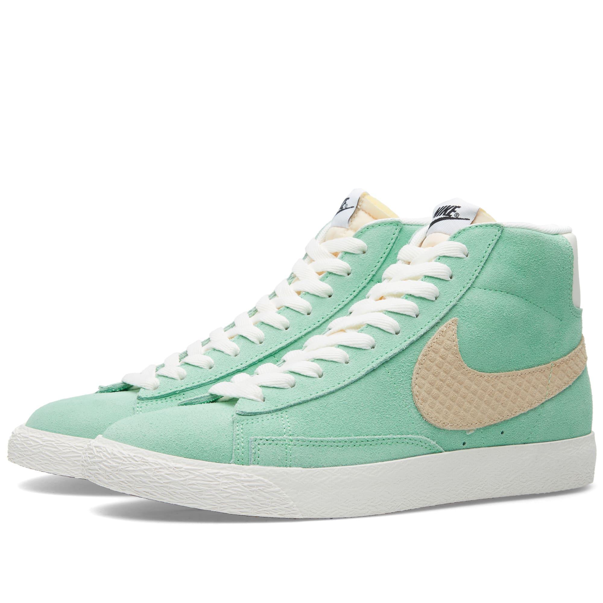 best loved e13e7 63652 Nike Blazer Mid Premium Vintage QS Light Poison Green   Sand Dune   END.