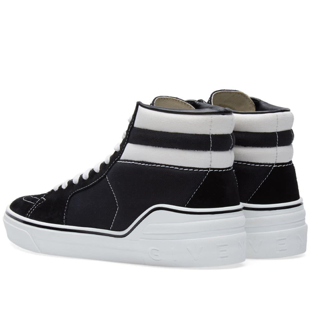 outlet store preview of wholesale sales Givenchy George Skate Mid Sneaker Black & White | END.