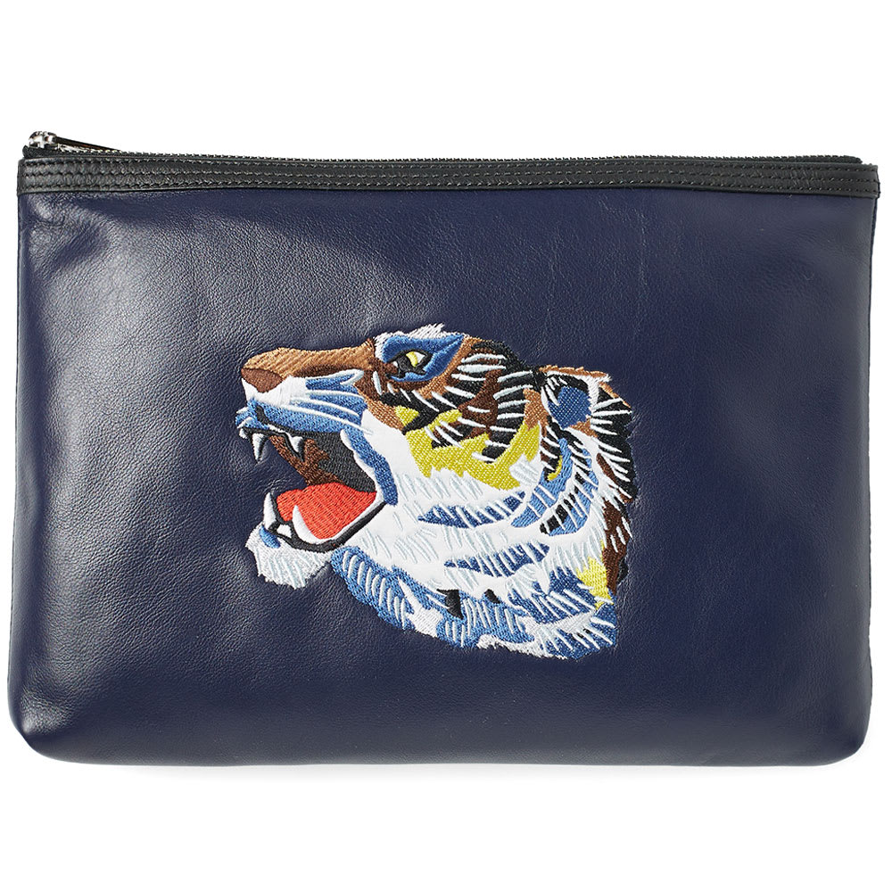 9804630ed0 Kenzo Zip A4 Pouch 'Go Tigers!'