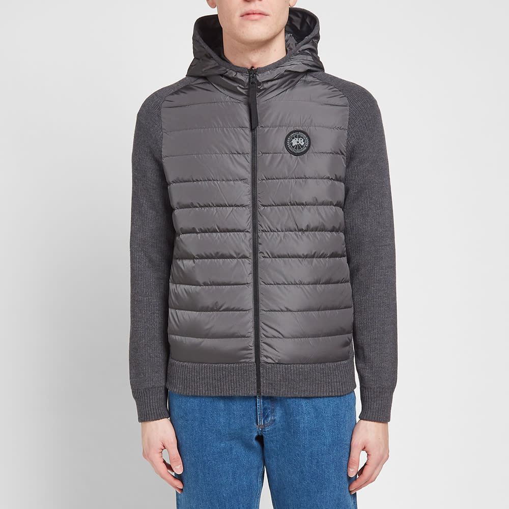 Canada Goose Black Label Hybridge Knit Reversible Hoody In