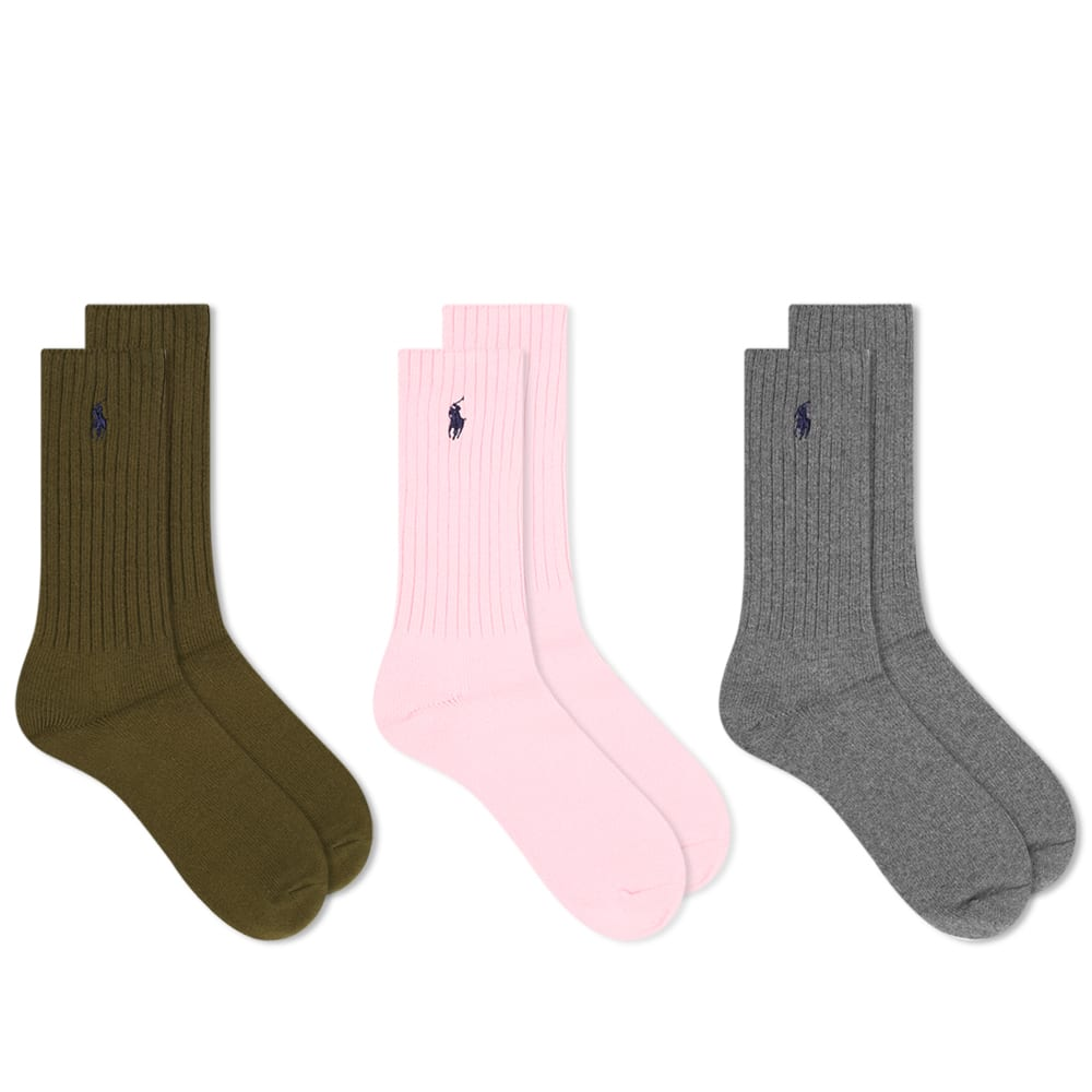 Polo Ralph Lauren Classic Crew Sock   3 Pack by Polo Ralph Lauren