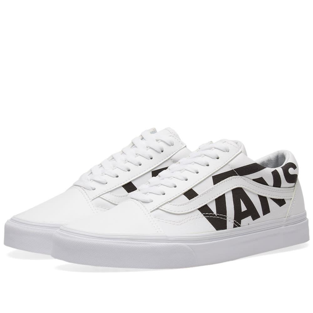 b555c64401d1c4 Vans Old Skool True White   Black