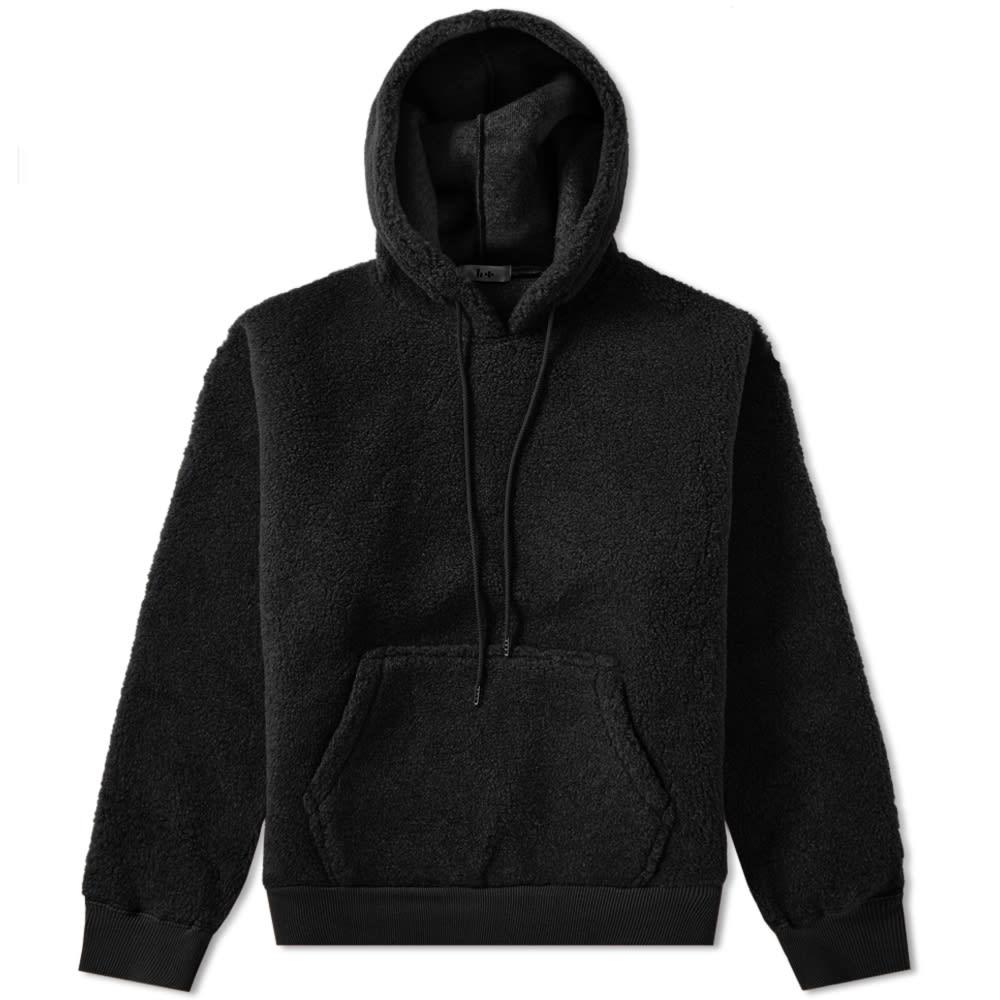 Head Porter Plus Sherpa Popover Hoody in Black