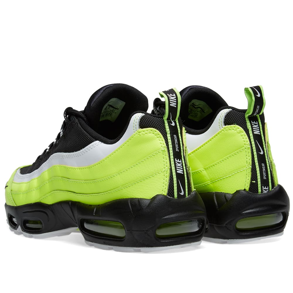 new product 6ede4 87d50 Nike Air Max 95 Premium Volt, Black, Barley   Grey   END.