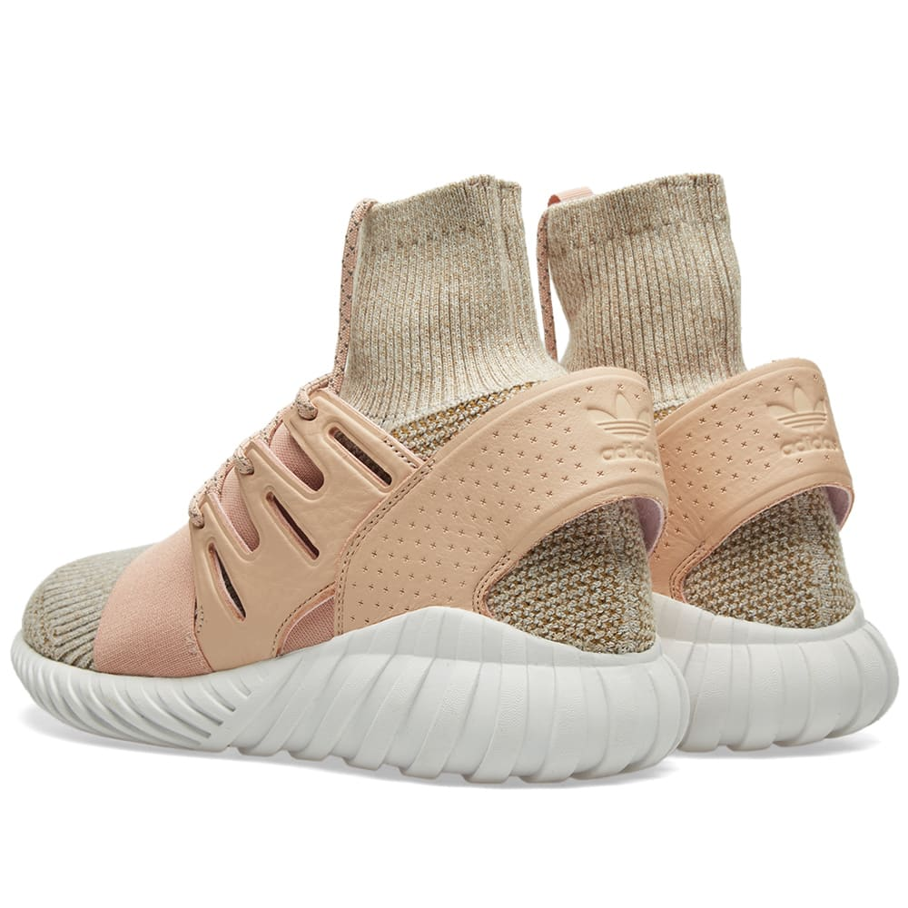low priced a56e5 d9e17 Adidas Tubular Doom PK Pale Nude   Clear Brown   END.