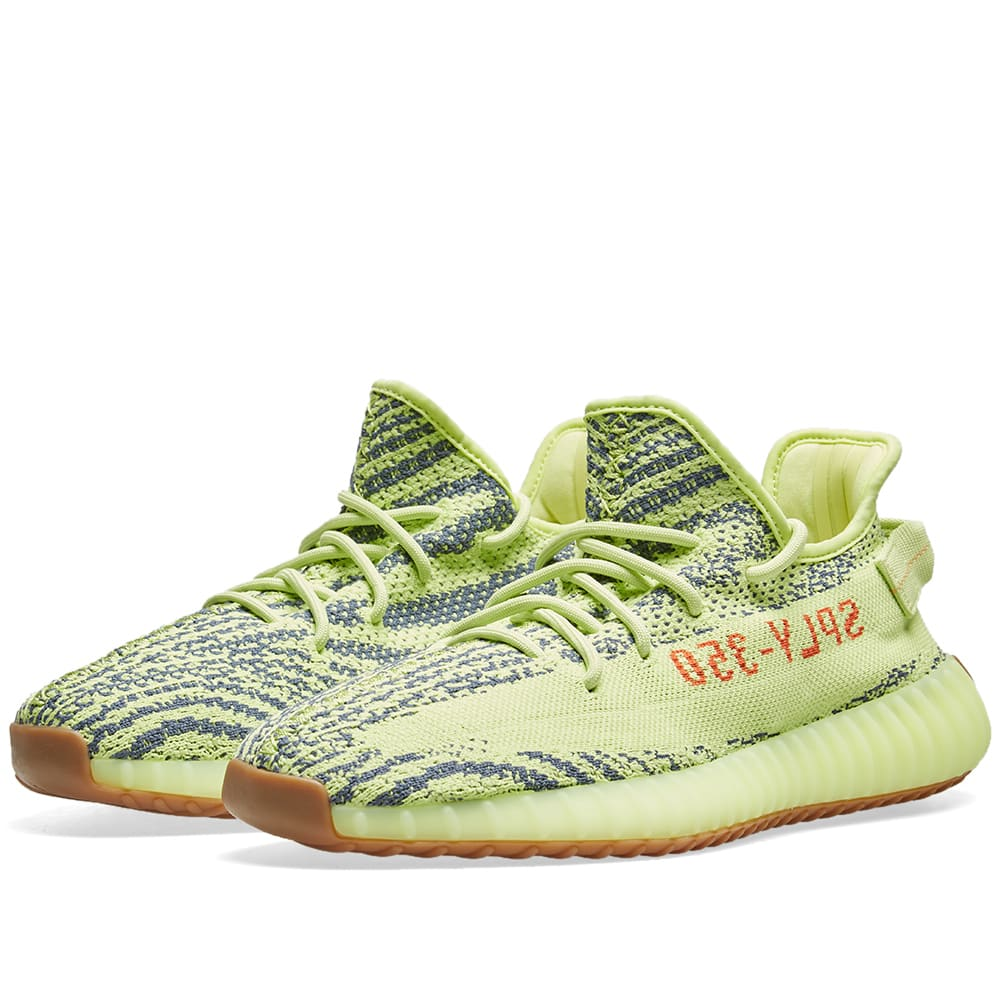5bc990a89 Adidas Yeezy Boost 350 V2 Semi Frozen Yellow   Raw Steel