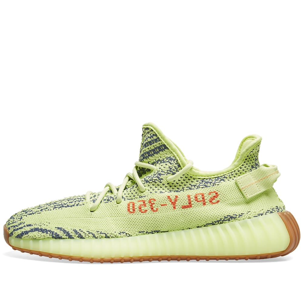 a35df21b42219 Adidas Yeezy Boost 350 V2 Semi Frozen Yellow   Raw Steel