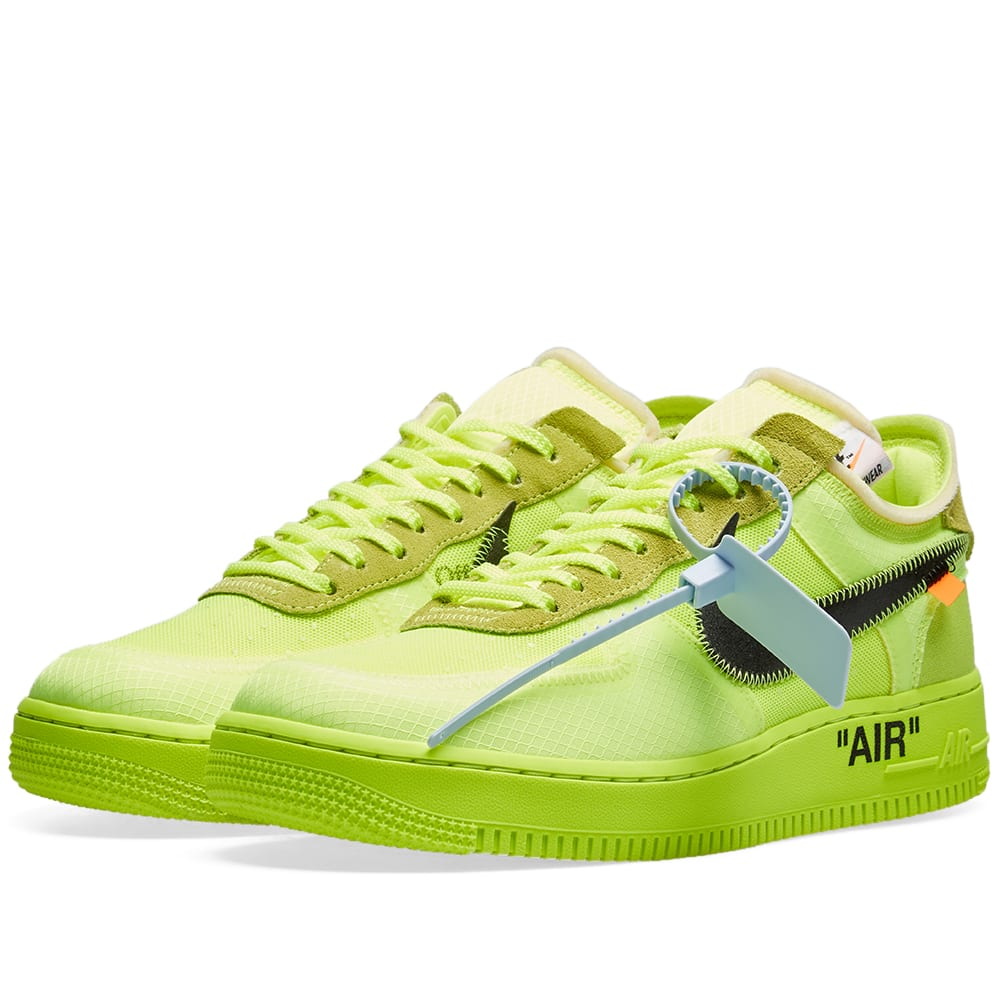 Off White x Nike Air Force 1 'Volt' The Ten Where to buy