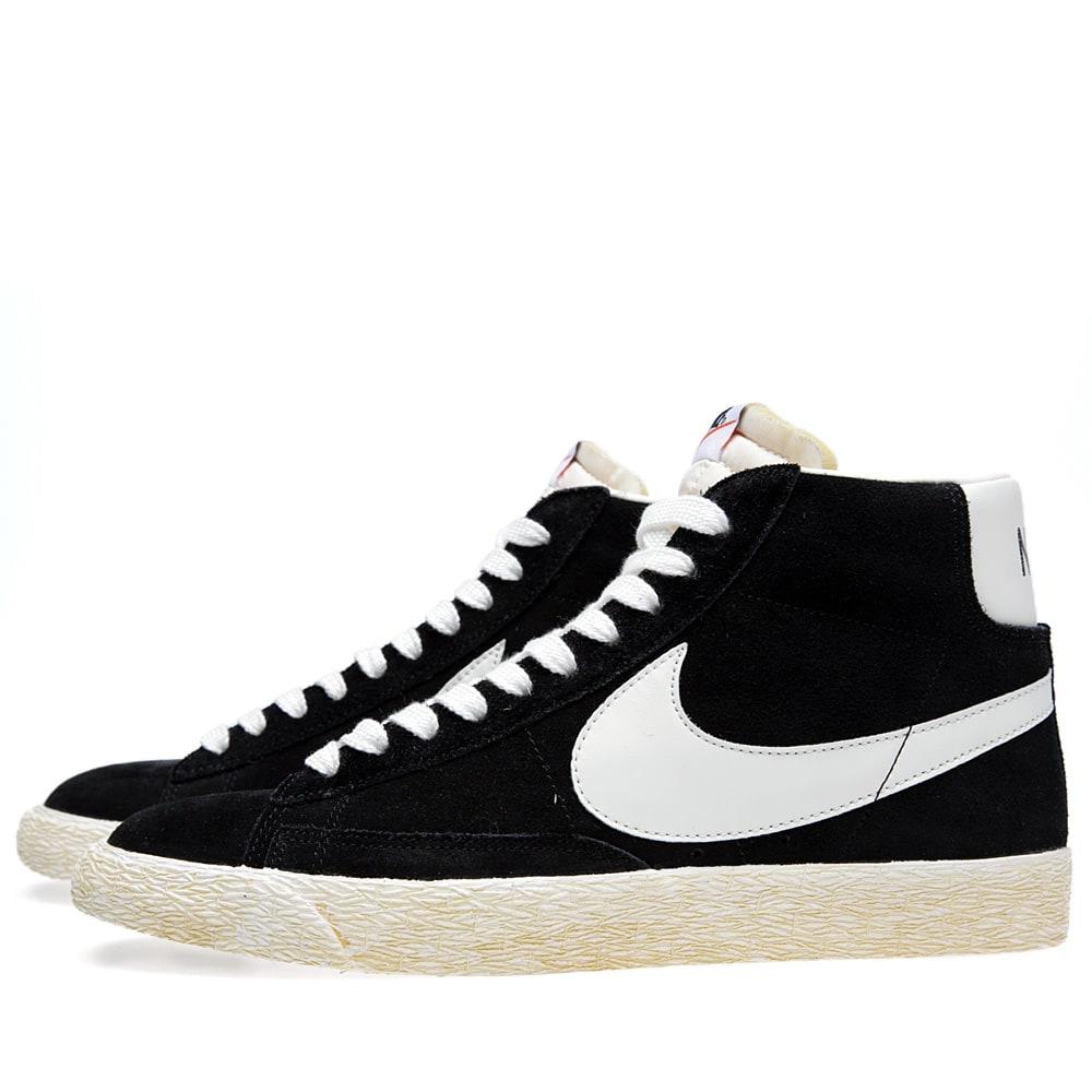 low priced 83af0 3490f Nike Blazer High VNTG Black   Sail   END.