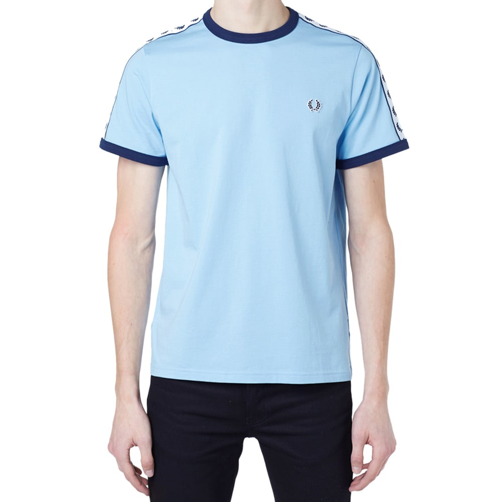 Clothes Ringer 2015 ~ Fred perry taped retro ringer tee glacier