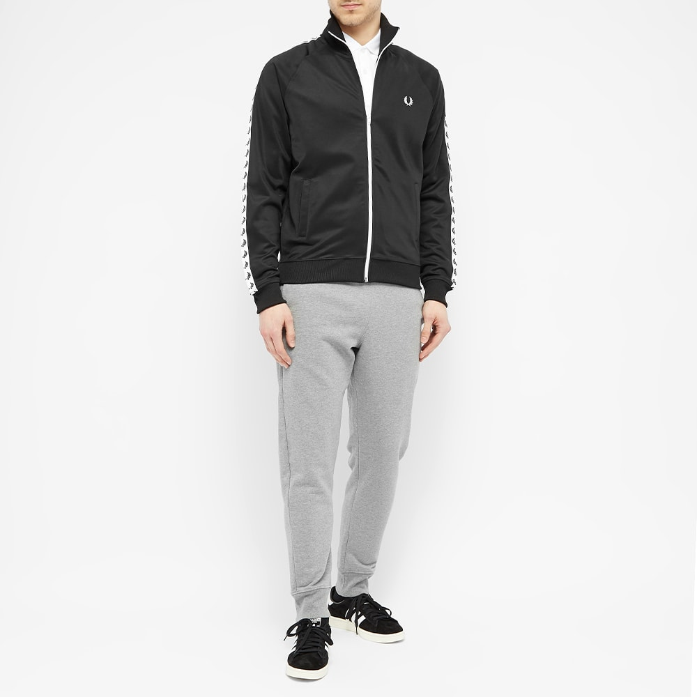 Fred Perry Black Sports Authenitc Taped Track Jacket J6231-198