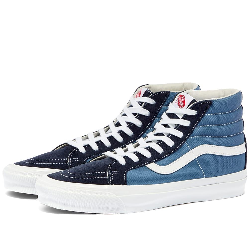 vans sk8 hi blue navy