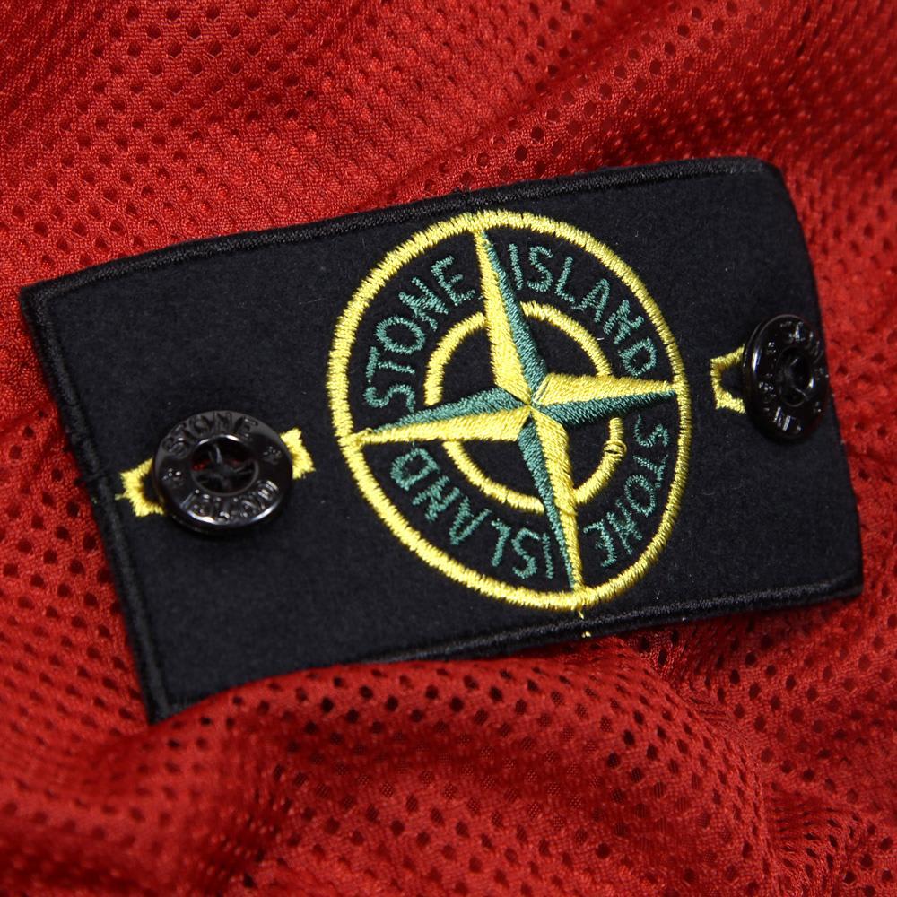 Stone Island Membrana Hooded Jacket (Red)