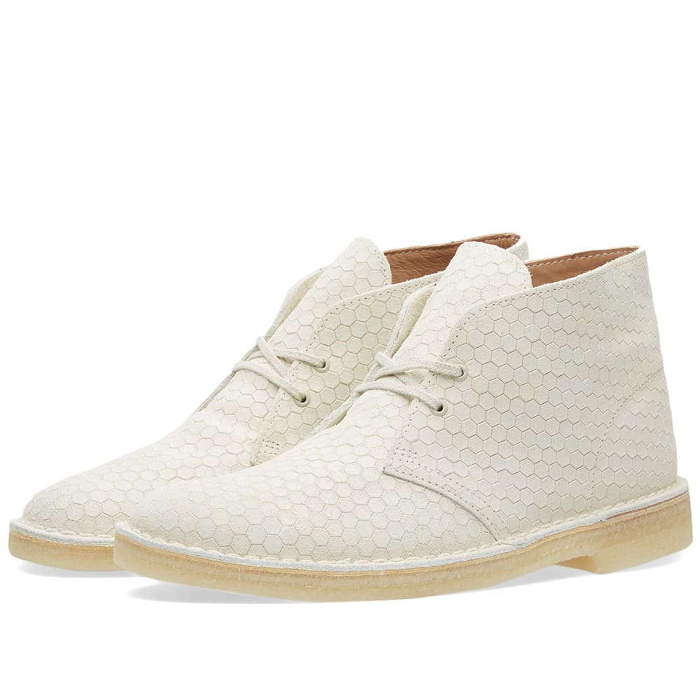 clarks originals desert boot off white hexagon. Black Bedroom Furniture Sets. Home Design Ideas