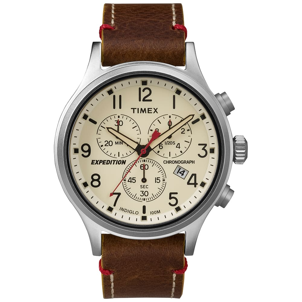 Timex expedition scout chronograph watch brown for Expedition watches