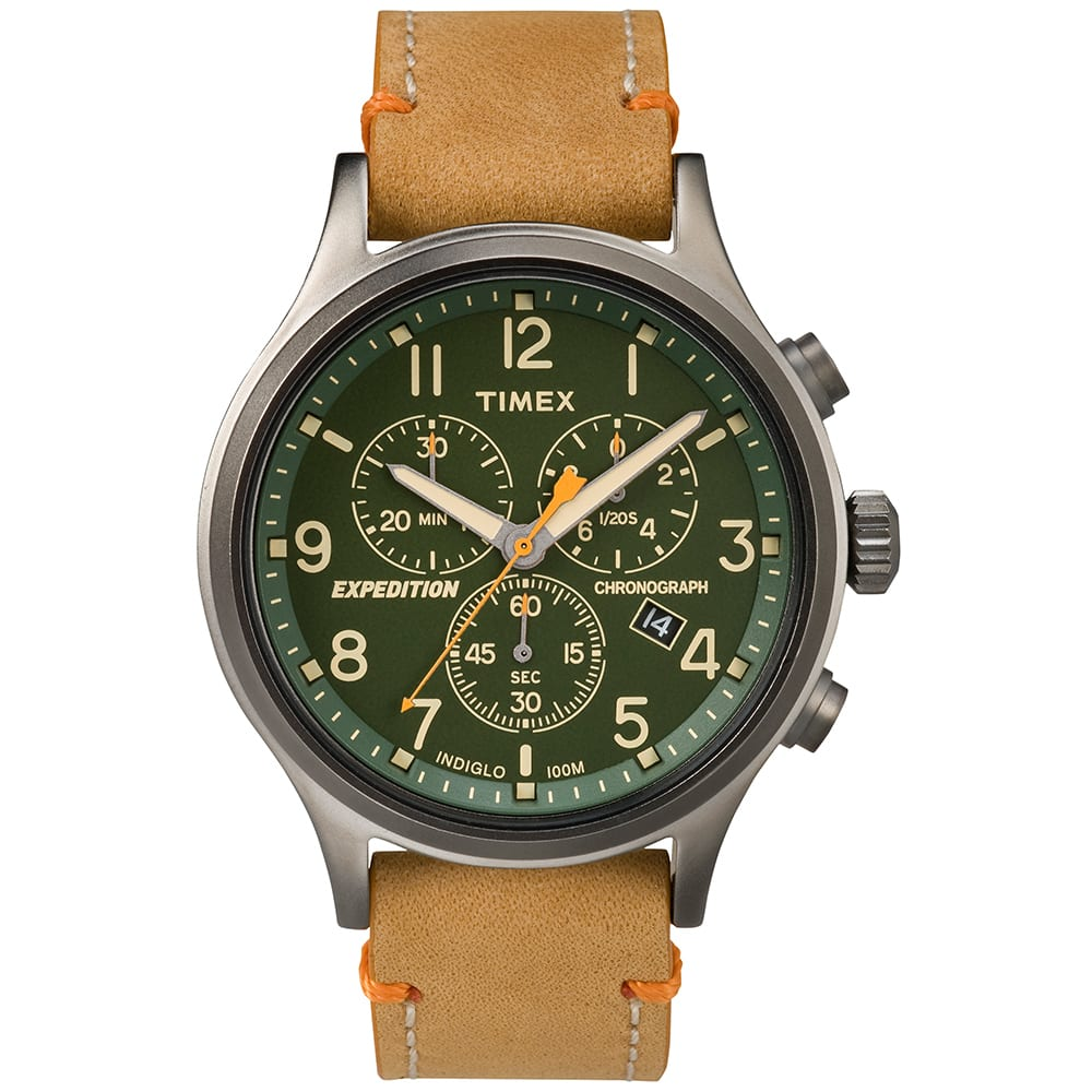 Timex expedition scout chronograph watch tan for Expedition watches