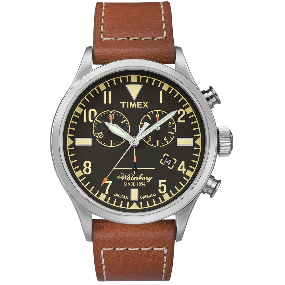 Timex X Red Wing Waterbury Chronograph Watch Black Rust