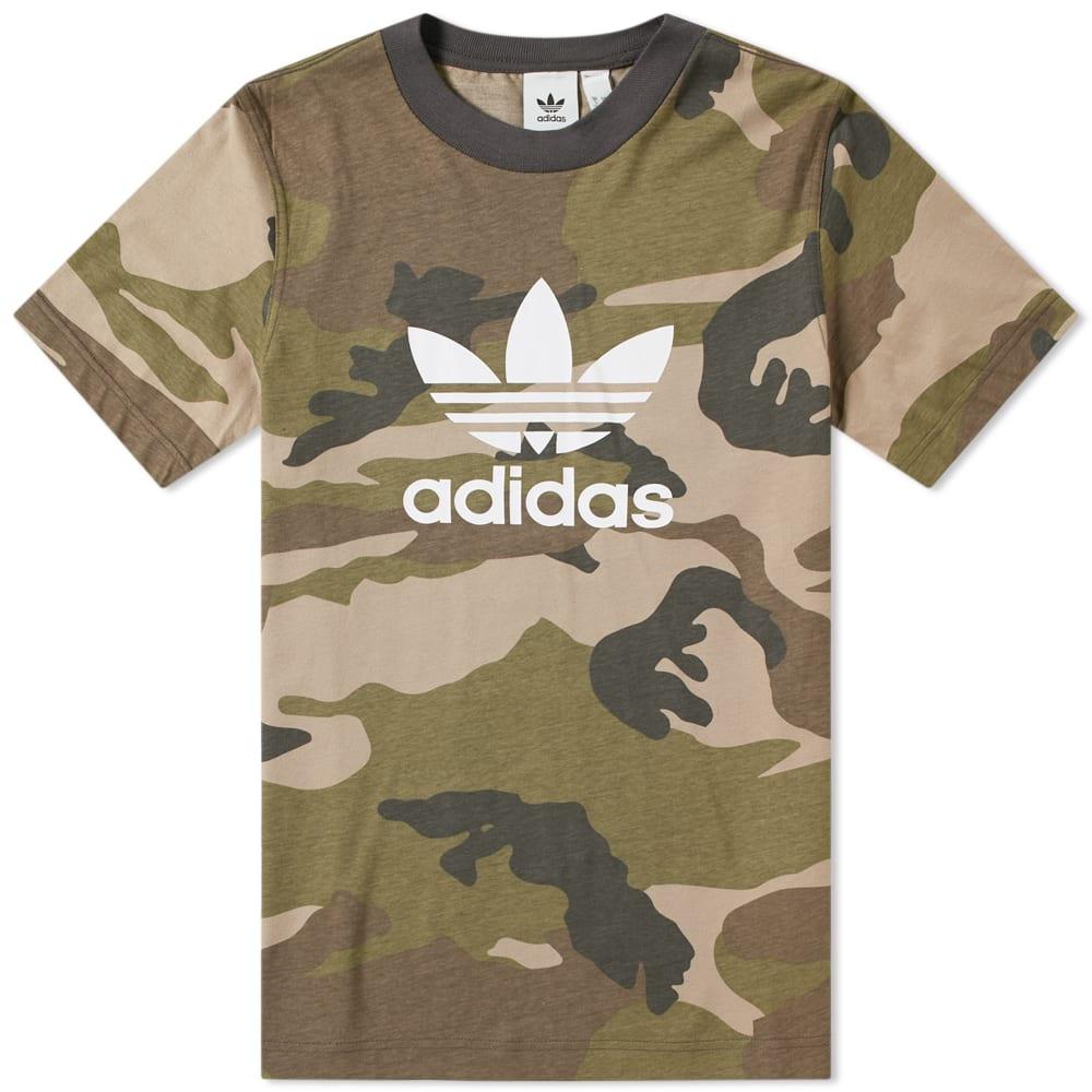 t-shirt adidas camouflage trefoil camo