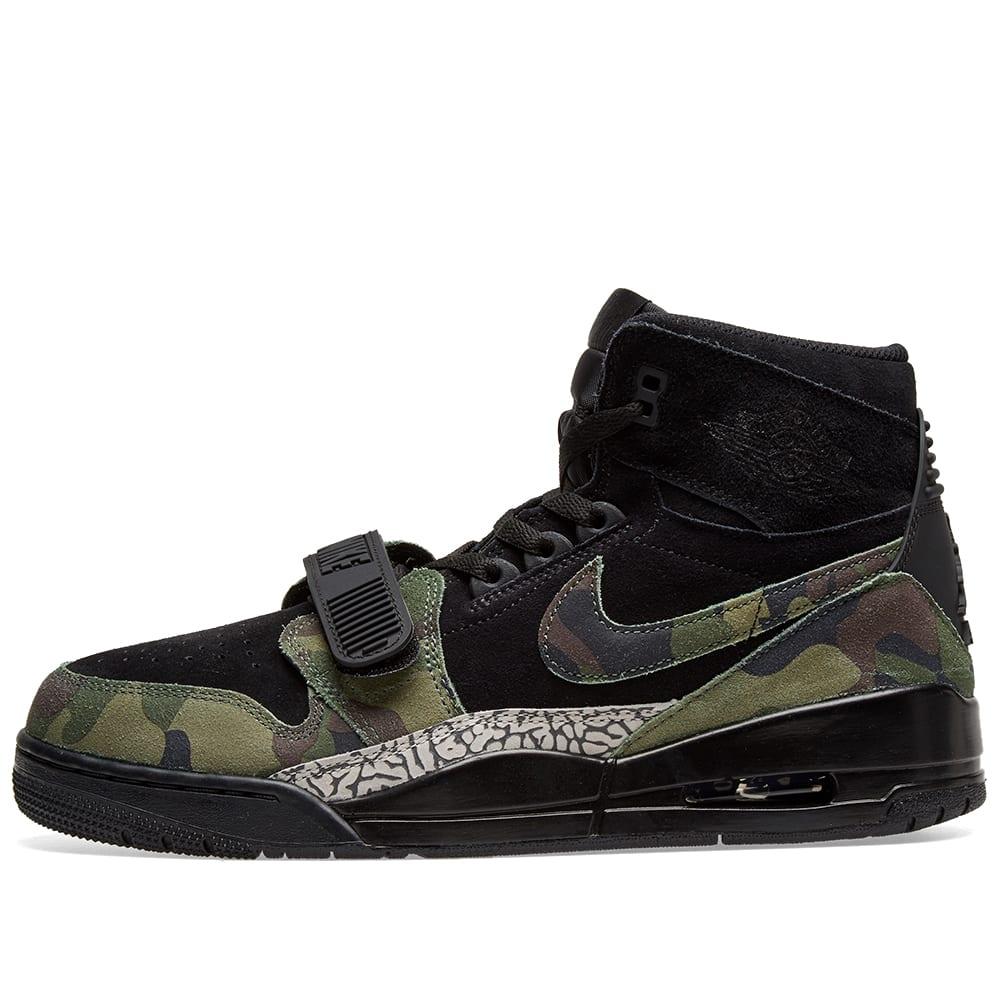 Air Jordan Legacy 312 Black, Camo Green