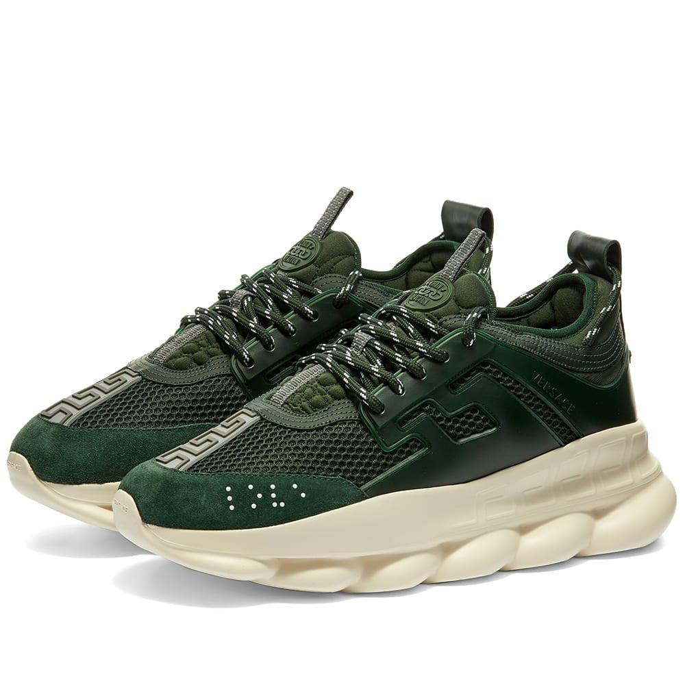 Versace Chain Reaction Sneaker Green | END.