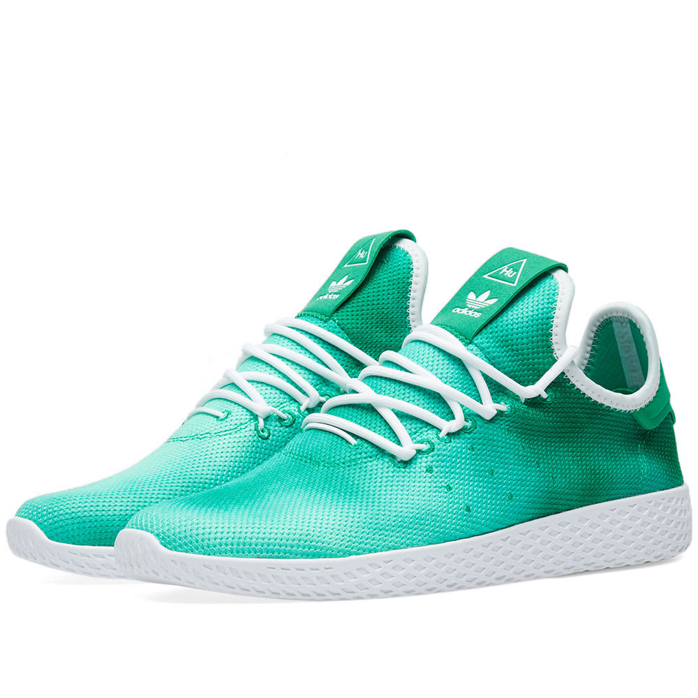 cfdd7d5fa7d77 Adidas x Pharrell Williams Hu Holi Tennis Green   White
