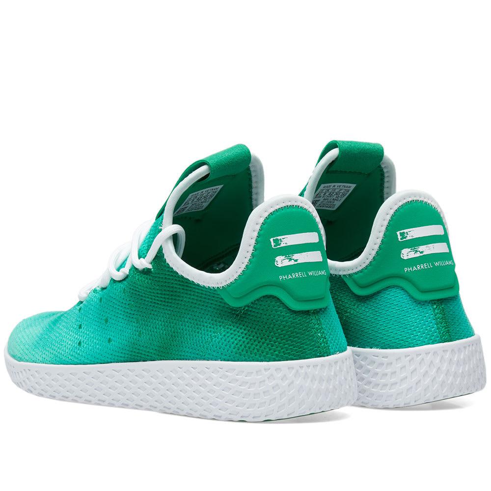 3f8f0ba77 Adidas x Pharrell Williams Hu Holi Tennis Green   White